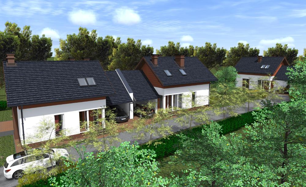 wizualizacja domów w inwestycji zielony gaj 1