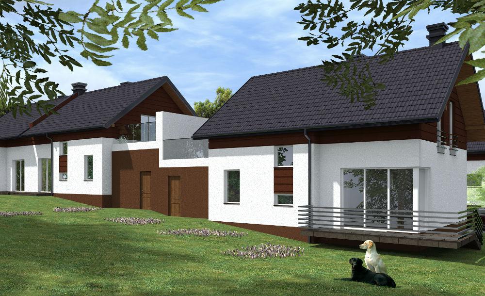 wizualizacja domów w inwestycji zielony gaj 2