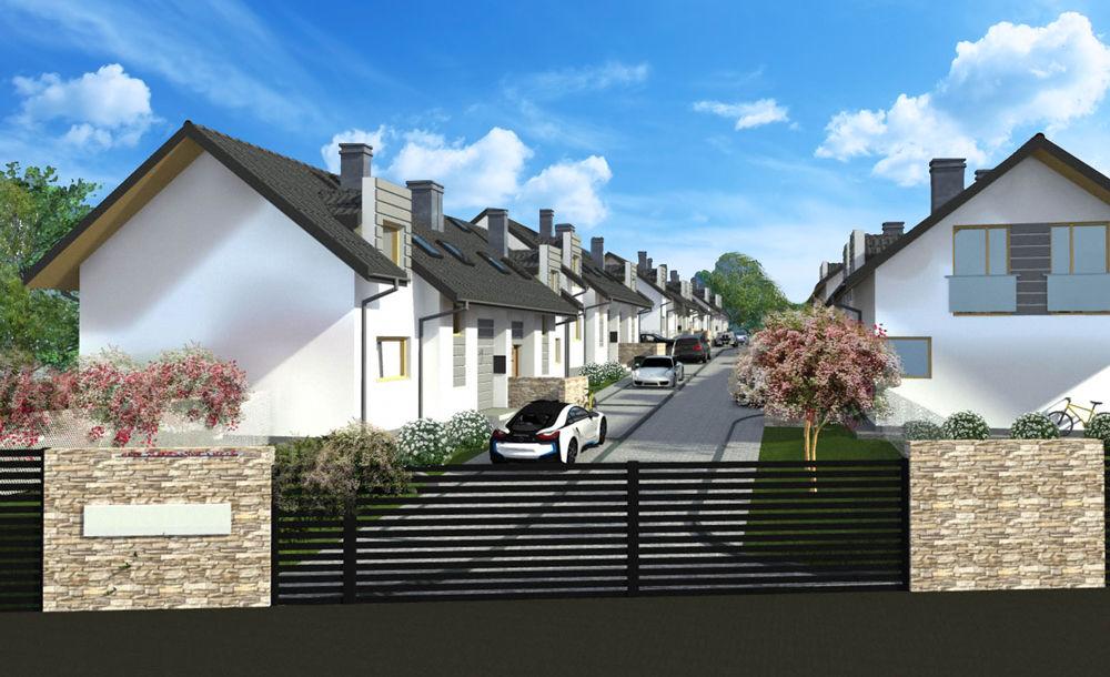 wizualizacja domów w inwestycji zielony gaj 3